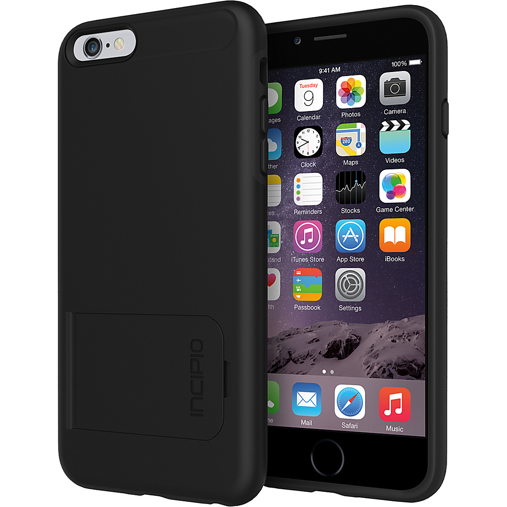 Incipio Kick snap iPhone 6 6s Plus Case Black Black Incipio Electronic Cases