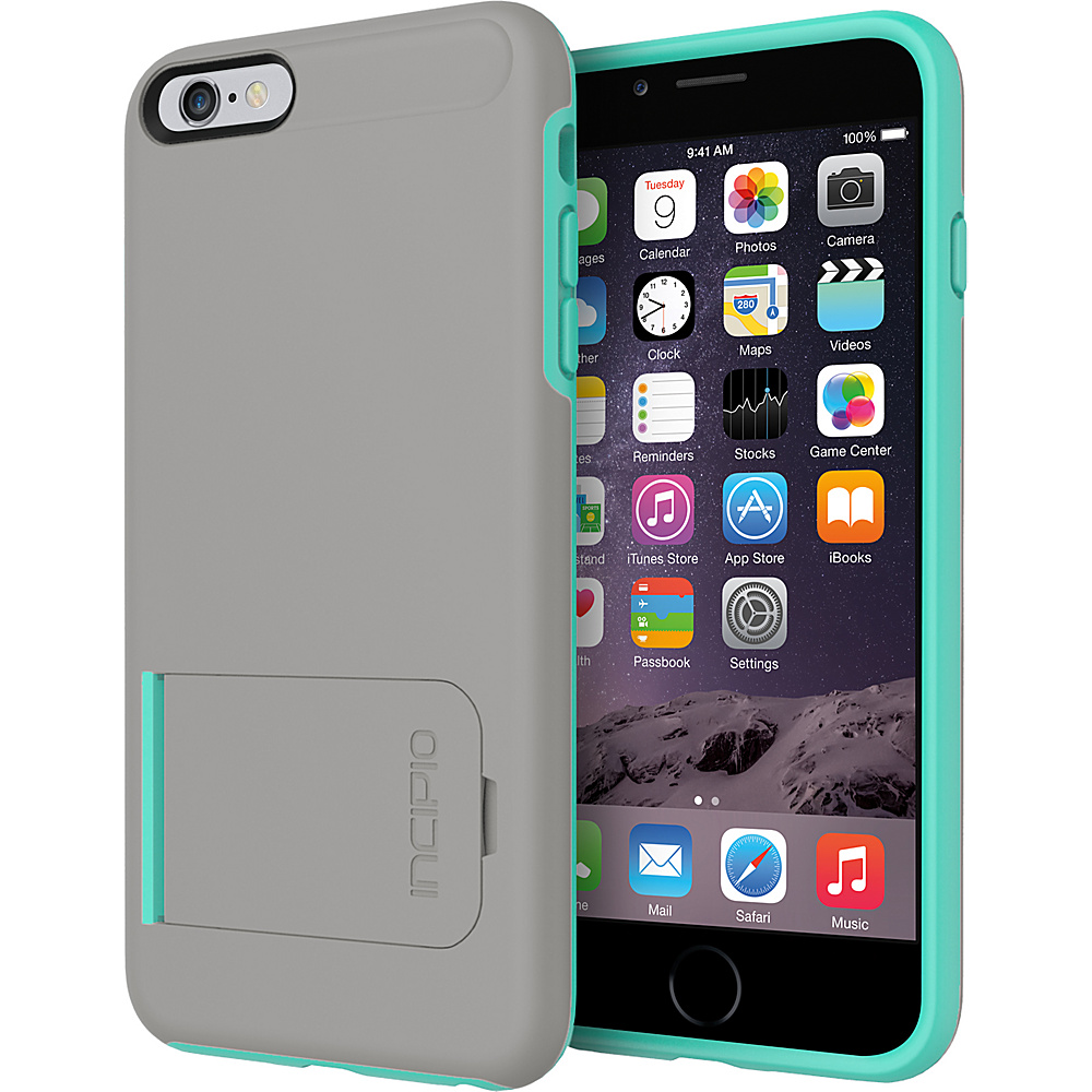 Incipio Kick snap iPhone 6 6s Plus Case Dark Gray Teal Incipio Electronic Cases