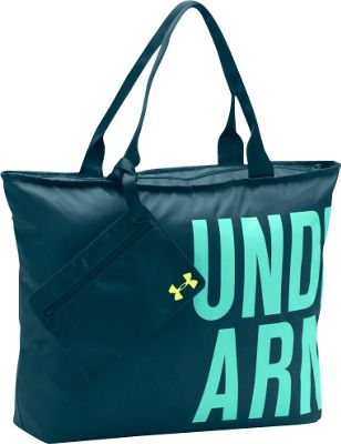 Under Armour Big Word Mark Tote Nova Teal - Under Armour Gym Duffels