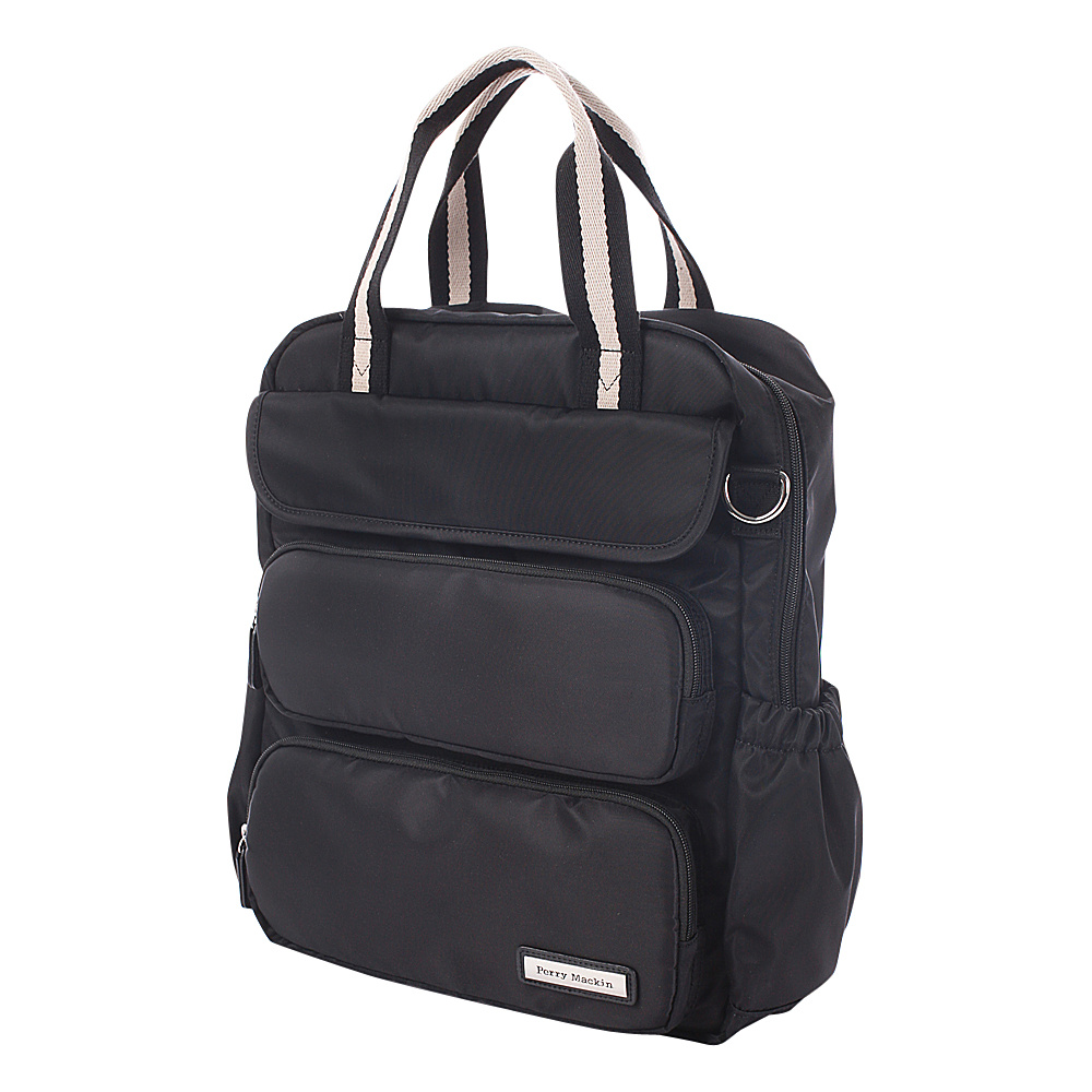 Perry Mackin Madison Diaper Backpack Black - Perry Mackin Diaper Bags & Accessories