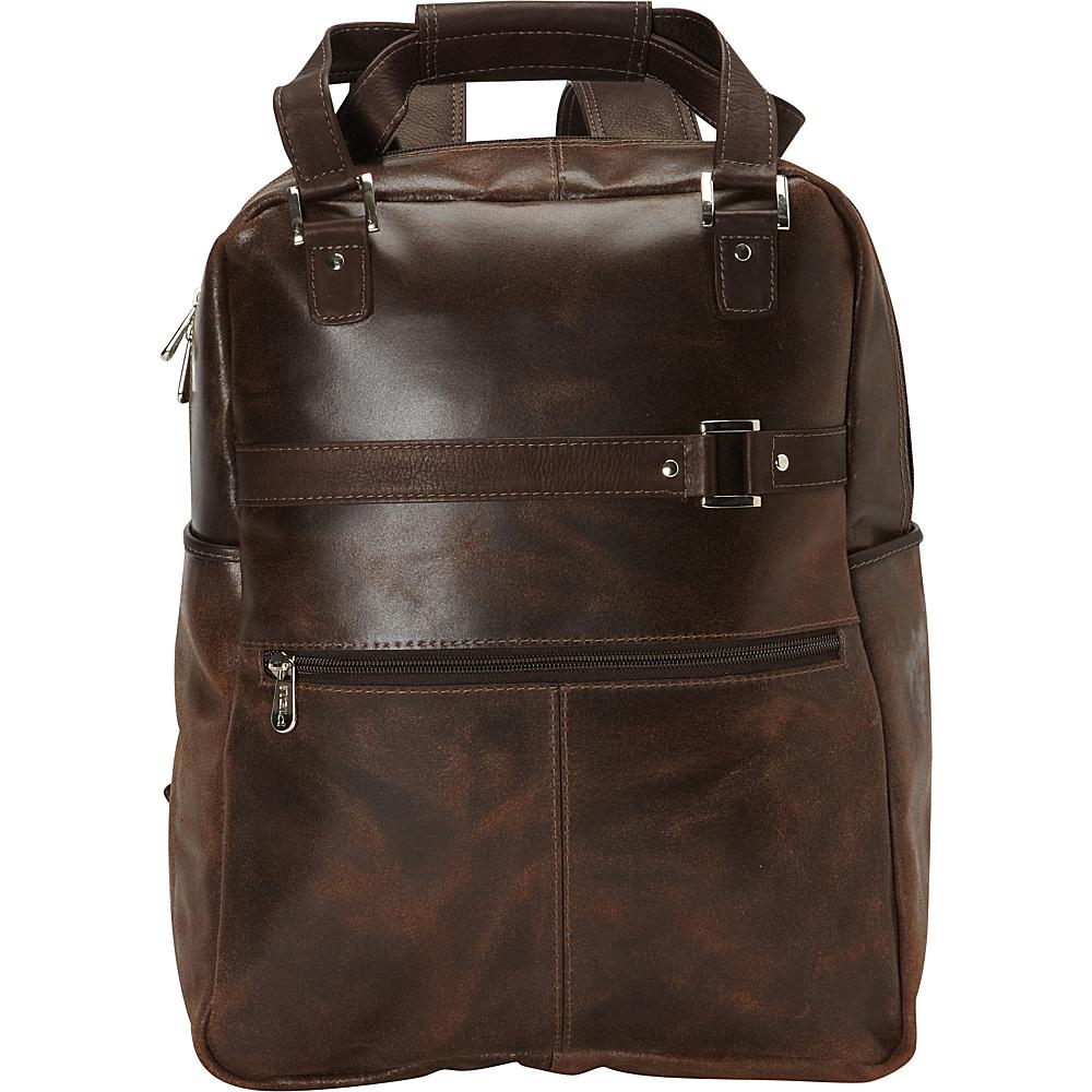 Piel Vintage Laptop Carry-All/Convertible Backpack Vintage Brown - Piel Business & Laptop Backpacks - Backpacks, Business & Laptop Backpacks