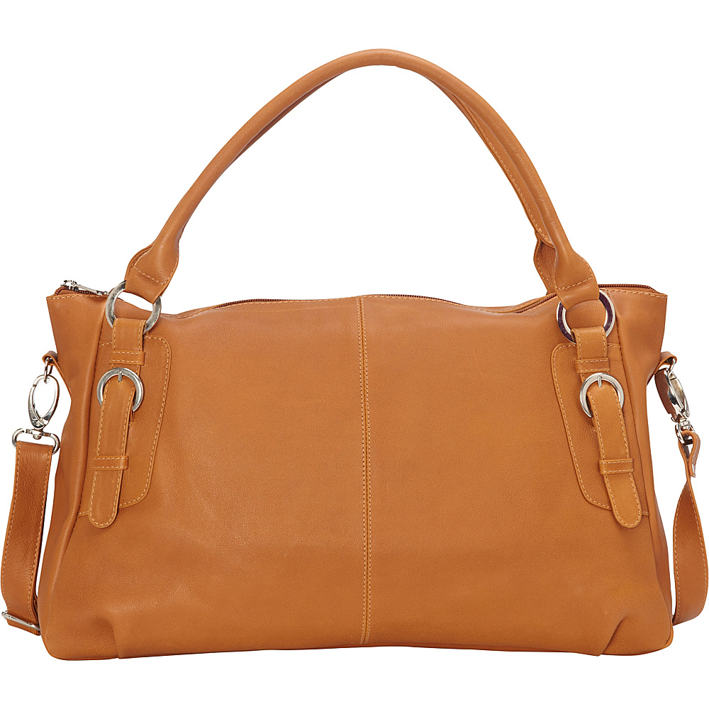 Piel Large Convertible Satchel Handbag Honey - Piel Leather Handbags