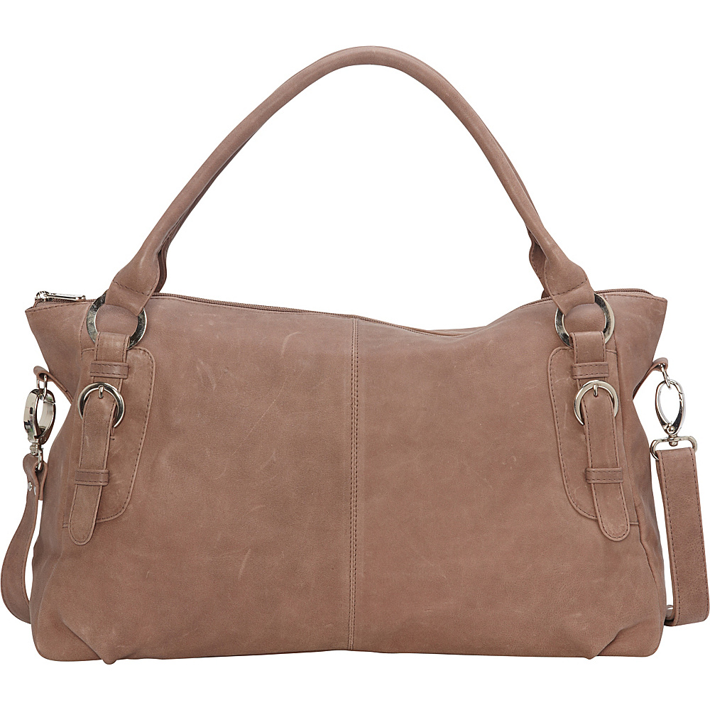 Piel Large Convertible Satchel Handbag Toffee- eBags Exclusive - Piel Leather Handbags - Handbags, Leather Handbags