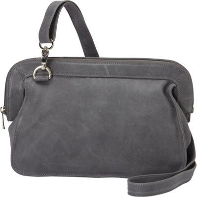 Piel Convertible Shoulder Bag Charcoal - Piel Leather Handbags