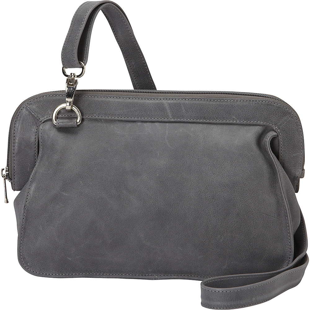 Piel Convertible Shoulder Bag Charcoal - Piel Leather Handbags - Handbags, Leather Handbags