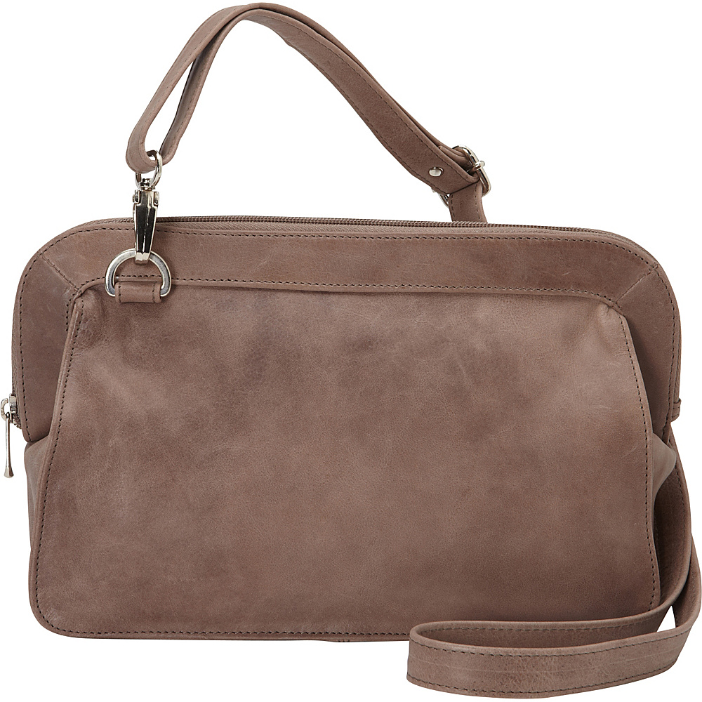 Piel Convertible Shoulder Bag Toffee- eBags Exclusive - Piel Leather Handbags - Handbags, Leather Handbags