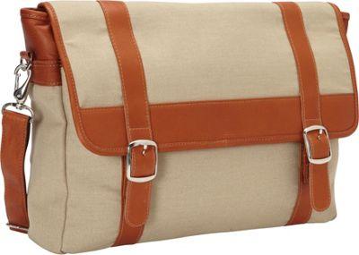 Piel Flap-Over Laptop, Tablet Portfolio Briefcase Saddle - Piel Non-Wheeled Business Cases