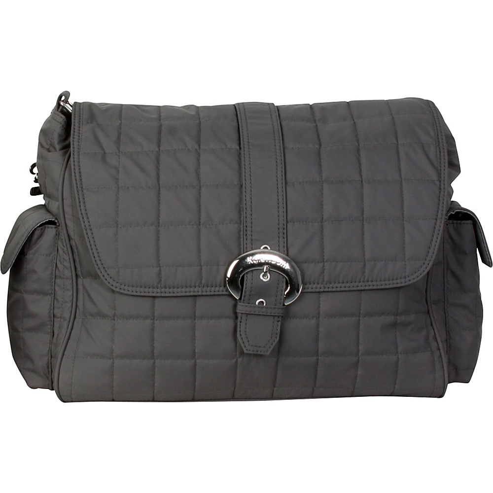 Kalencom Buckle Bag Quilted Charcoal Kalencom Diaper Bags Accessories