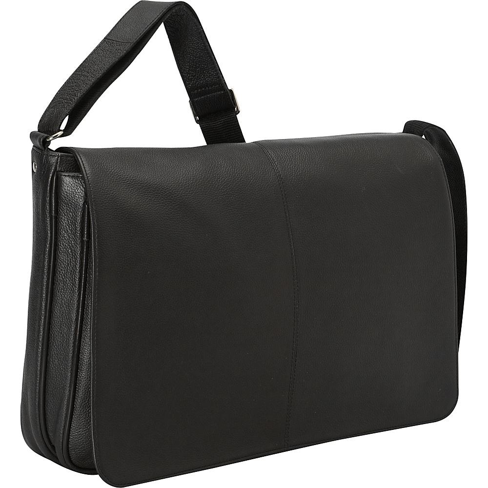 Latico Leathers Yellowstone Laptop Messenger Black - Latico Leathers Messenger Bags - Work Bags & Briefcases, Messenger Bags