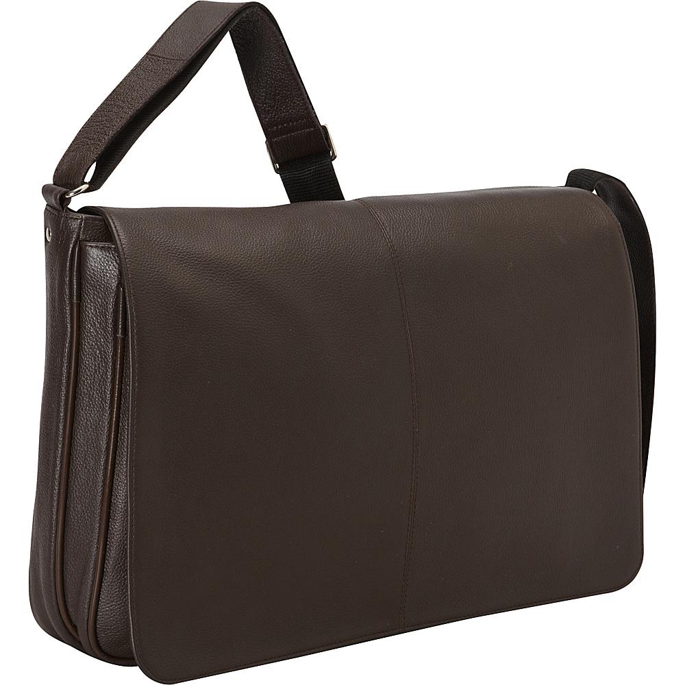 Latico Leathers Yellowstone Laptop Messenger Café - Latico Leathers Messenger Bags - Work Bags & Briefcases, Messenger Bags