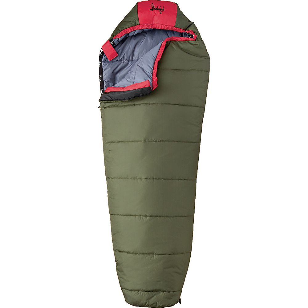 Slumberjack Lil Scout 40 Degree Short Right Hand Sleeping Bag Evergreen Slumberjack Outdoor Accessories