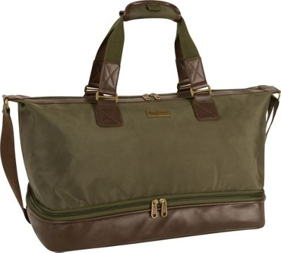 Tommy Bahama Surge 19 inch Duffle Olive/Brown - Tommy Bahama Rolling Duffels