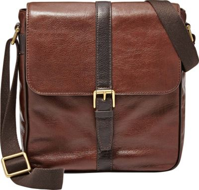 Fossil Estate NS City Bag Dark Brown - Fossil Messenger Bags
