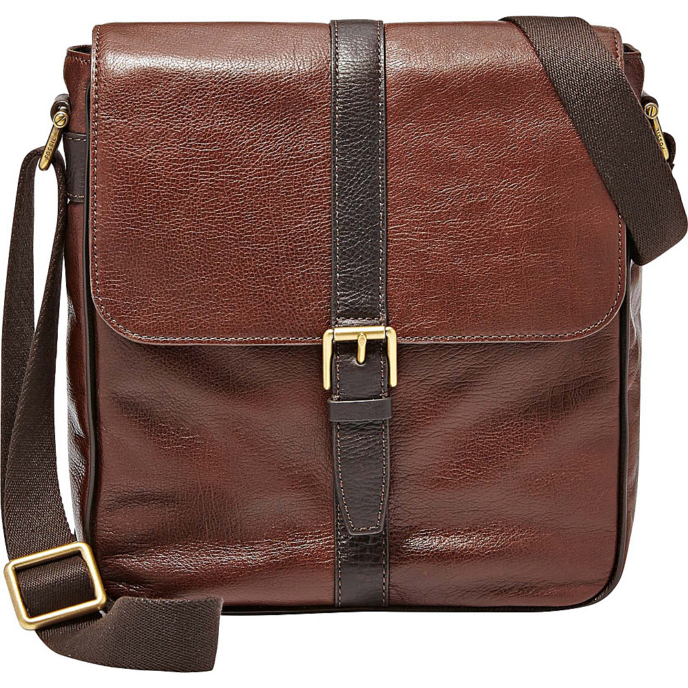 Fossil Estate NS City Bag Dark Brown - Fossil Messenger Bags - Work Bags & Briefcases, Messenger Bags