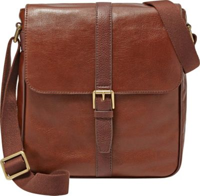 Fossil Estate NS City Bag Cognac - Fossil Messenger Bags