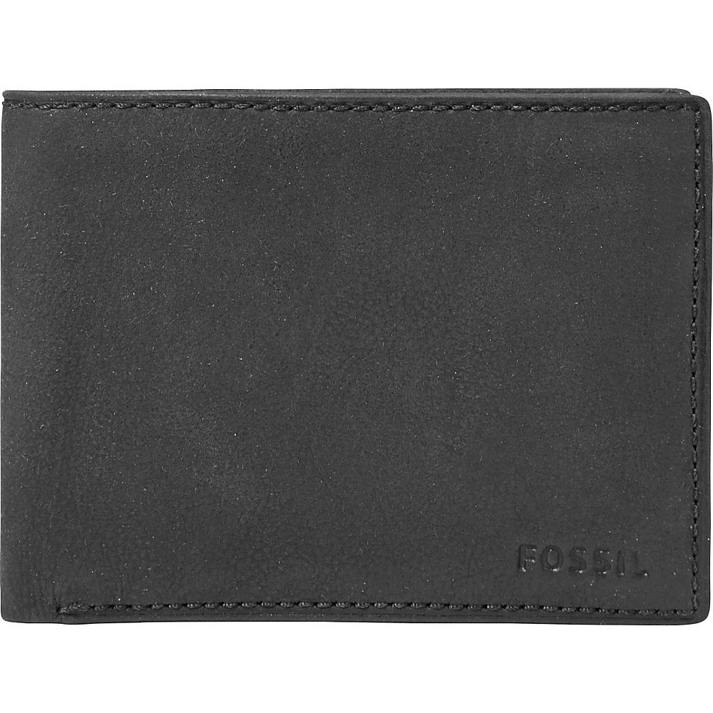 Fossil Nova Slim L-zip Bifold Black - Fossil Mens Wallets - Work Bags & Briefcases, Men's Wallets