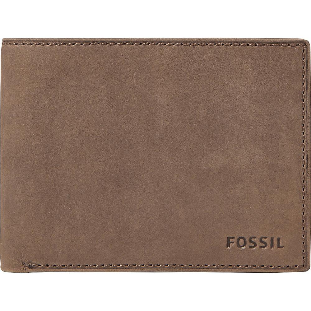 Fossil Nova Slim L-zip Bifold Brown - Fossil Mens Wallets - Work Bags & Briefcases, Men's Wallets