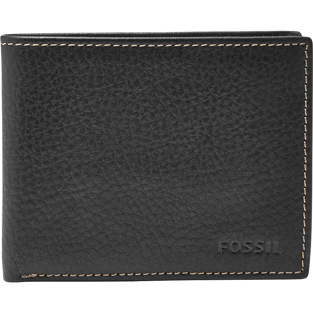 Fossil Lincoln Bifold Flip ID Black - Fossil Mens Wallets - Work Bags & Briefcases, Men's Wallets
