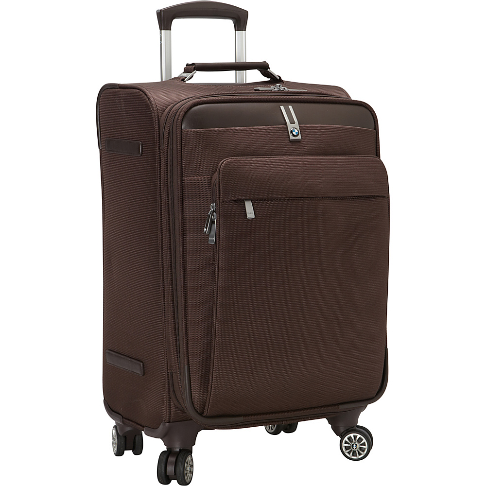 "BMW Luggage 20"" 8 Wheel Spinner Brown - BMW Luggage Small Rolling Luggage"