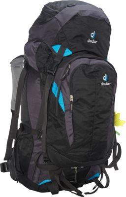 Deuter Quantum 60 + 10 SL Backpack black/turquoise - Deuter Day Hiking Backpacks