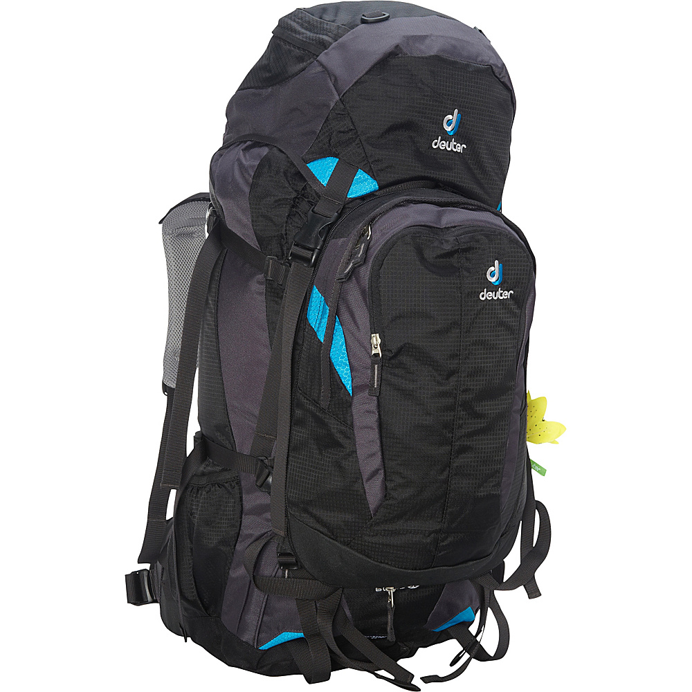 Deuter Quantum 60 10 SL Travel Backpack black turquoise Deuter Day Hiking Backpacks