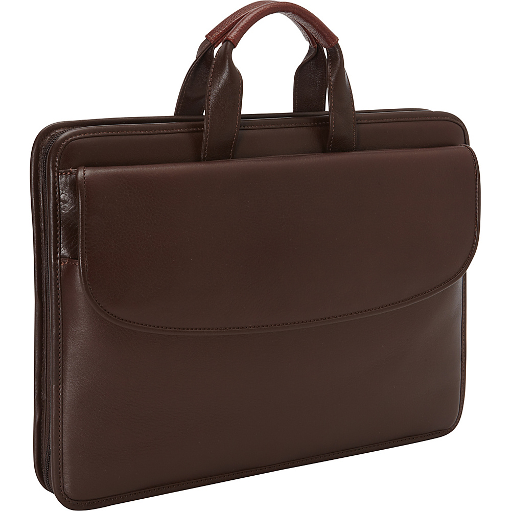 Johnston & Murphy Portfolio Briefcase Dark Brown - Johnston & Murphy Non-Wheeled Business Cases