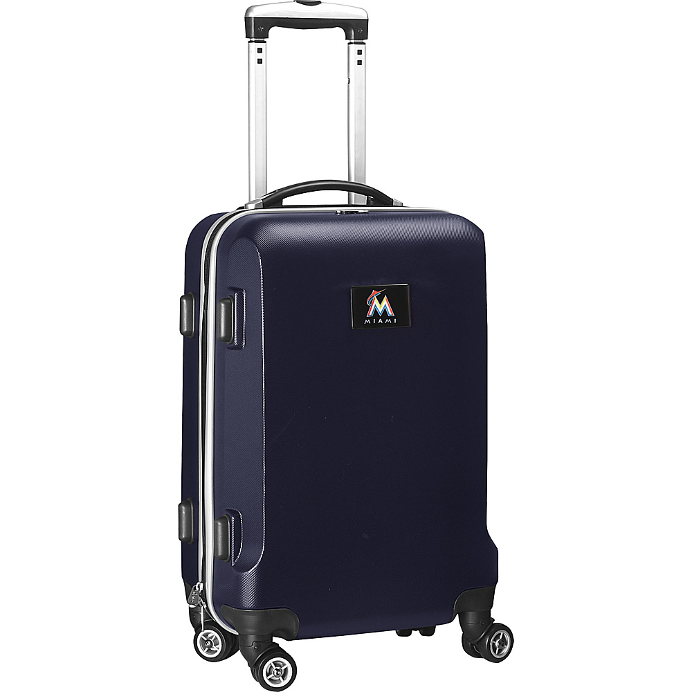 Denco Sports Luggage MLB 20 Domestic Carry-On Navy Miami Marlins - Denco Sports Luggage Hardside Carry-On - Luggage, Hardside Carry-On