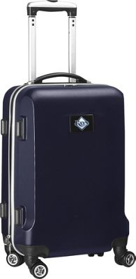 """Denco Sports Luggage MLB 20"""""""" Domestic Carry-On Navy Tampa Bay Rays - Denco Sports Luggage Hardside Carry-On"""
