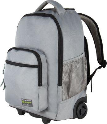 ecogear Rolling Dhole Laptop Backpack Grey/Black - ecogear Rolling Backpacks