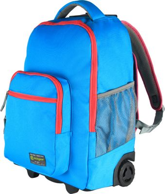 ecogear Rolling Dhole Laptop Backpack Blue/Pink - ecogear Rolling Backpacks