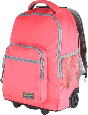 ecogear Rolling Dhole Laptop Backpack Pink/Grey - ecogear Rolling Backpacks
