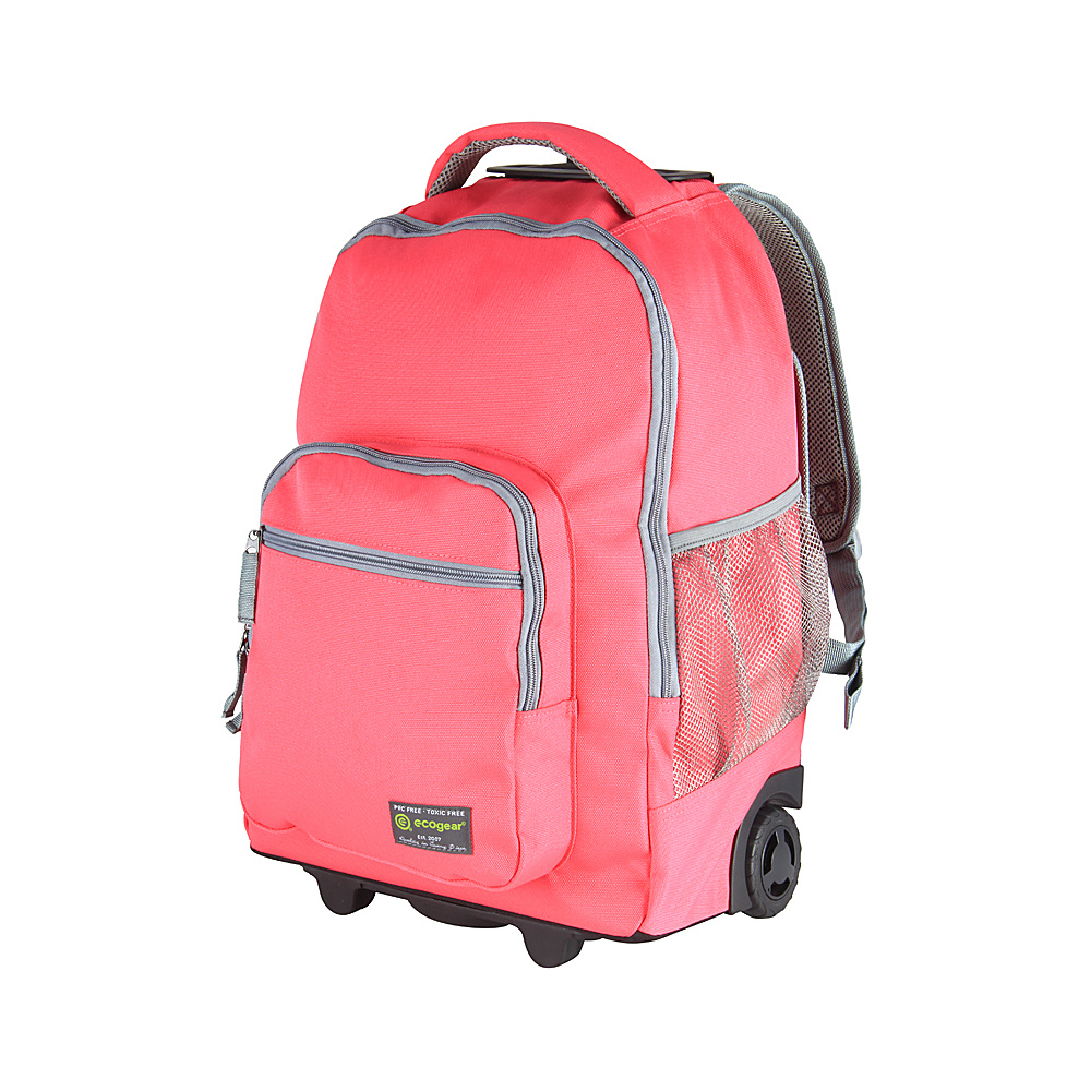 ecogear Rolling Dhole Laptop Backpack Pink/Grey - ecogear Rolling Backpacks