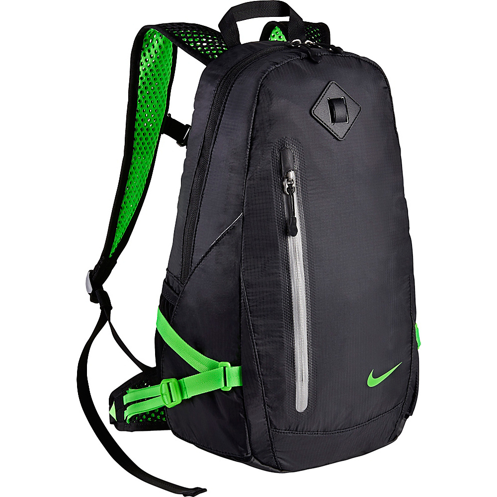 Nike Vapor Lite Running Backpack BLACK VLTGGR VOLTAGE GREEN Nike Everyday Backpacks