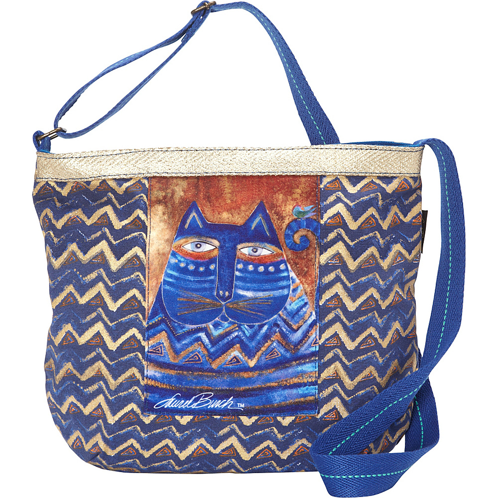 Laurel Burch Azul Crossbody Multi Laurel Burch Fabric Handbags