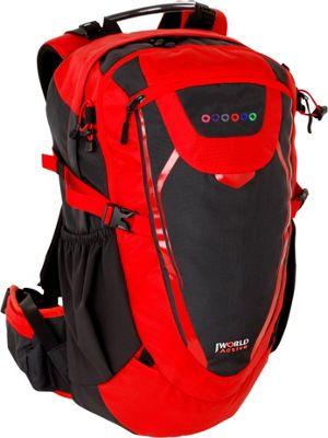 J World New York Mist Outdoor Backpack Red - J World New York Day Hiking Backpacks