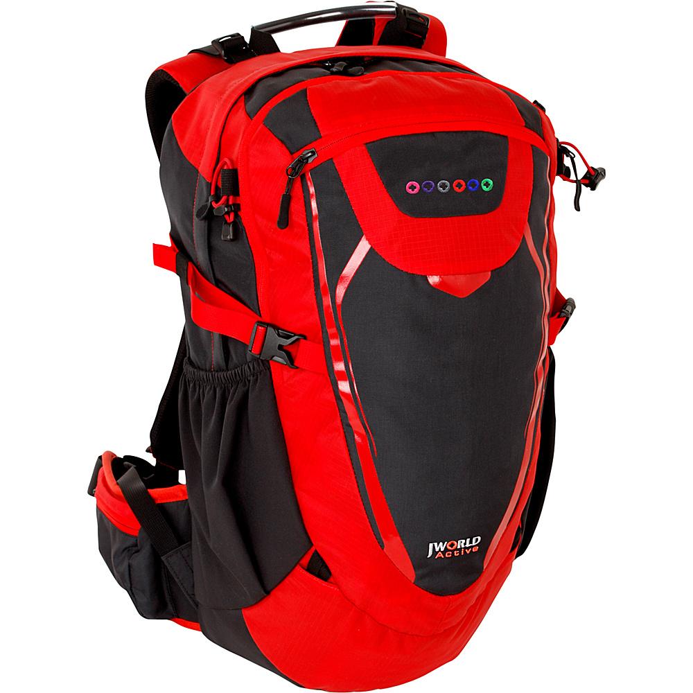 J World New York Mist Outdoor Backpack Red - J World New York Day Hiking Backpacks - Outdoor, Day Hiking Backpacks