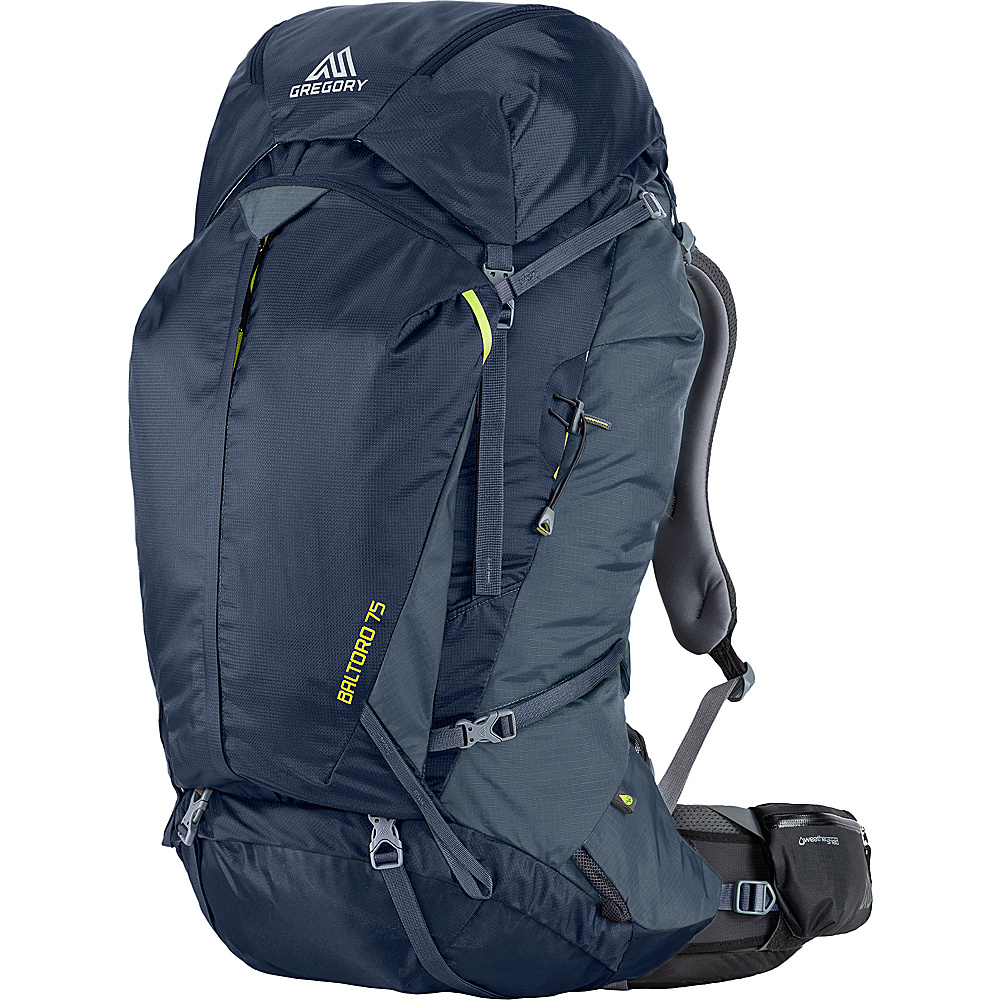 Gregory Men s Baltoro 75 Large Pack Navy Blue Gregory Day Hiking Backpacks