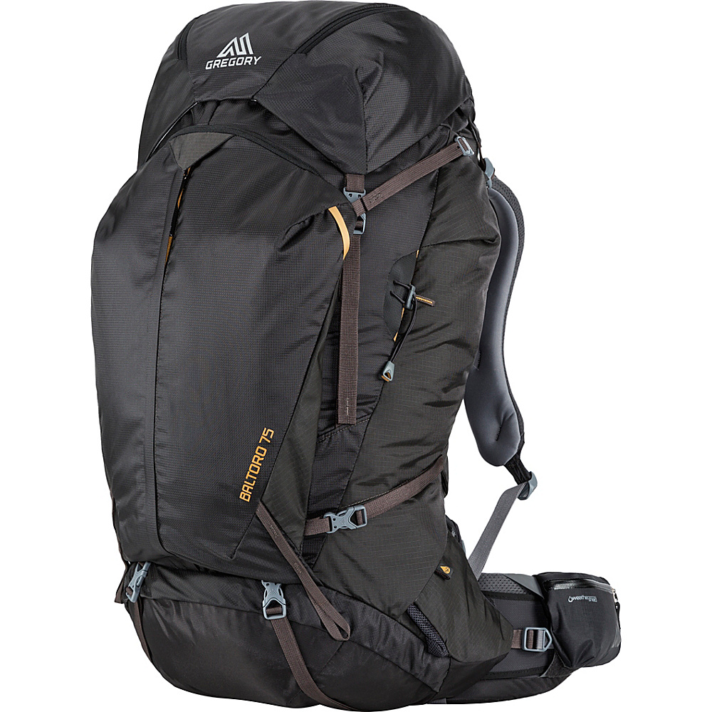 Gregory Men s Baltoro 75 Large Pack Shadow Black Gregory Day Hiking Backpacks