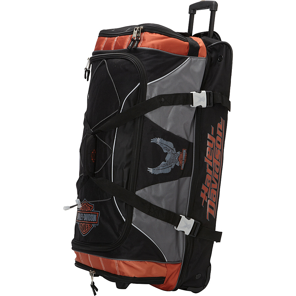 "Harley Davidson by Athalon 32"" XL Duffel with Organizer Rust/Black - Harley Davidson by Athalon Travel Duffels"