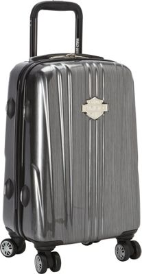 Harley Davidson by Athalon 18 inch Molded Carryon with Spinners Steel Grey - Harley Davidson by Athalon Hardside Carry-On