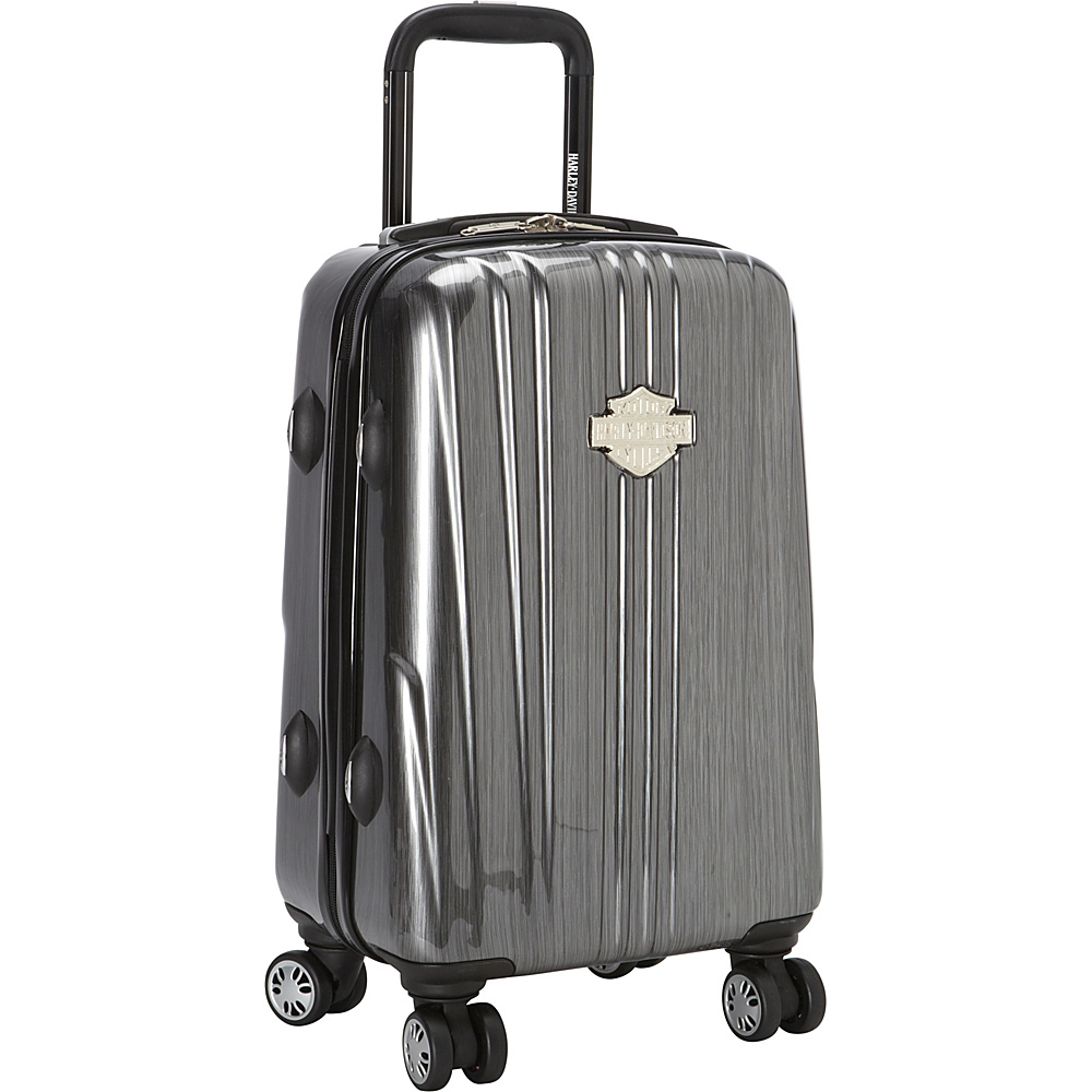 "Harley Davidson by Athalon 18"" Molded Carryon with Spinners Steel Grey - Harley Davidson by Athalon Hardside Carry-On"