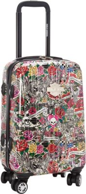 Harley Davidson by Athalon 18 inch Molded Carryon with Spinners Tattoo - Harley Davidson by Athalon Hardside Carry-On
