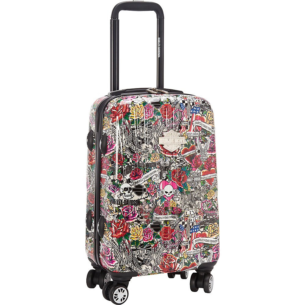 Harley Davidson by Athalon 18 Molded Carryon with Spinners Tattoo Harley Davidson by Athalon Hardside Carry On