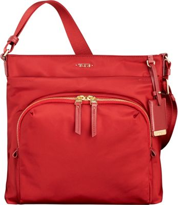 Tumi Voyageur Capri Crossbody Crimson - Tumi Designer Handbags
