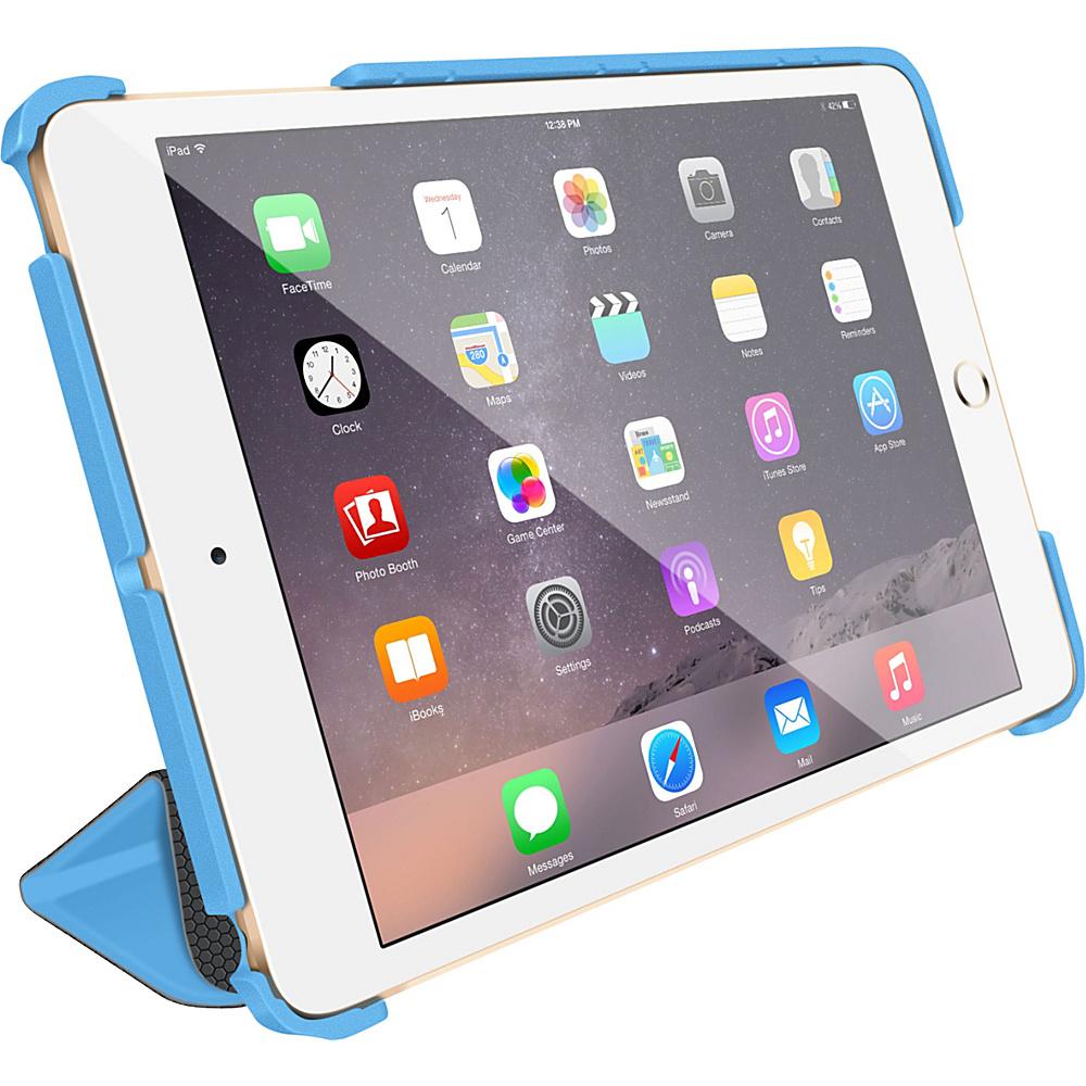 rooCASE Optigon 3D Slim Shell Folio Case Smart Cover for Apple iPad Mini 3 2 1 Blue - rooCASE Electronic Cases