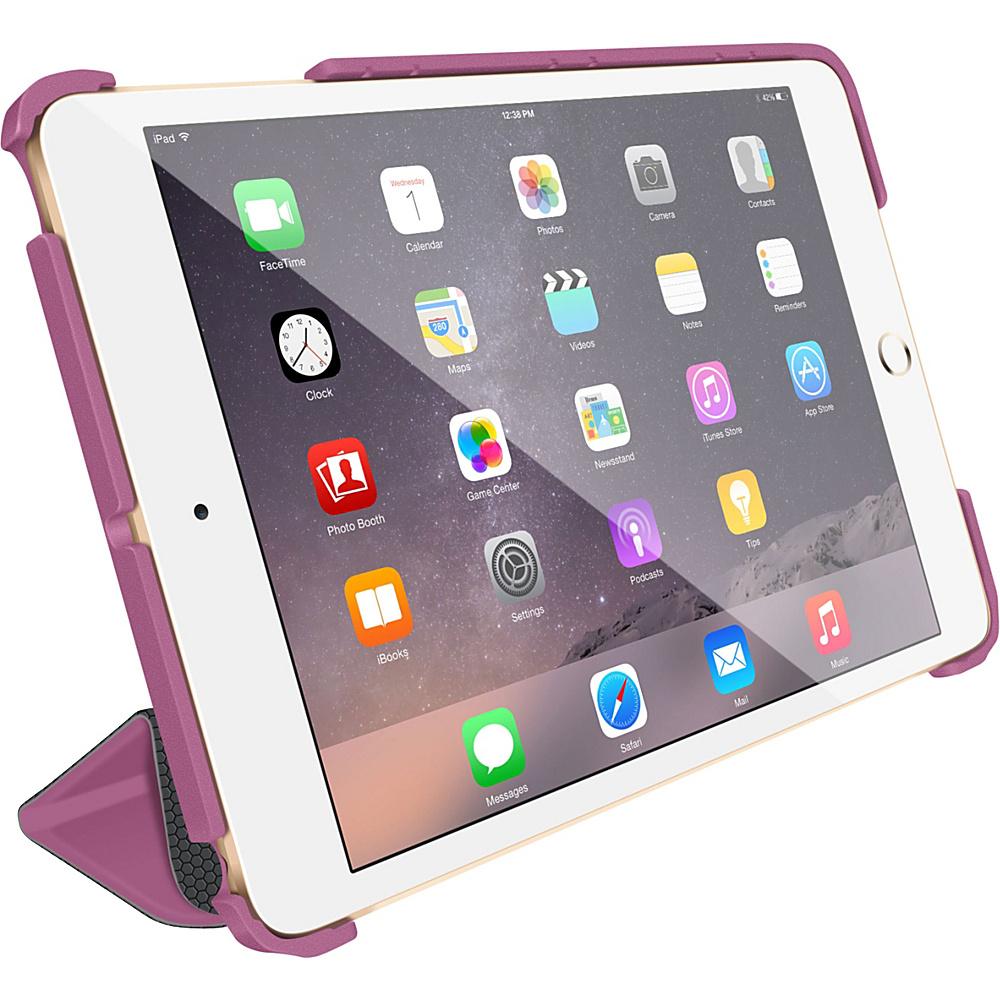 rooCASE Optigon 3D Slim Shell Folio Case Smart Cover for Apple iPad Mini 3 2 1 Purple - rooCASE Electronic Cases