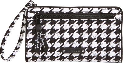 Vera Bradley Front Zip Wristlet Midnight Houndstooth - Vera Bradley Fabric Handbags