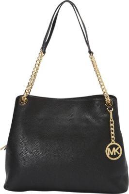 MICHAEL Michael Kors Jet Set Large Chain Shoulder Tote Black - MICHAEL Michael Kors Designer Handbags