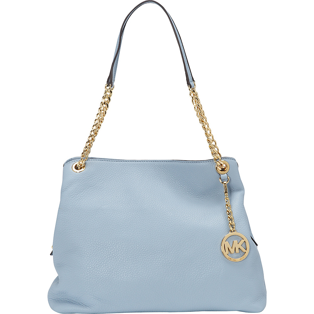 MICHAEL Michael Kors Jet Set Large Chain Shoulder Tote Pale Blue - MICHAEL Michael Kors Designer Handbags