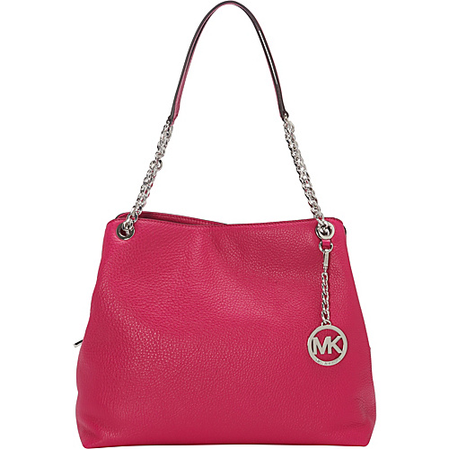 MICHAEL Michael Kors Jet Set Large Chain Shoulder Tote Fuschia - MICHAEL Michael Kors Designer Handbags
